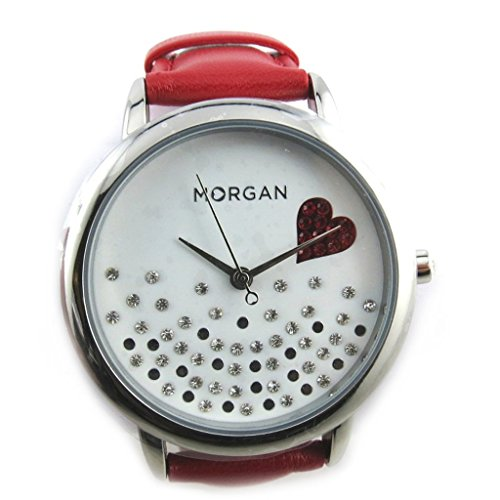 Armbanduhr french touch Morganweiss rot love love