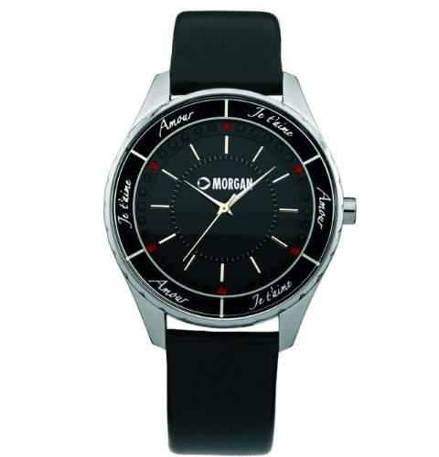 Morgan Damen-Armbanduhr Analog Leder schwarz M1065B