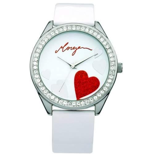 Morgan Damen-Armbanduhr Analog weiss M1072W