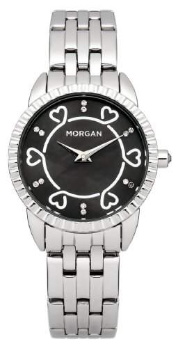 Morgan Damen-Armbanduhr Analog Quarz Grau M1185SM