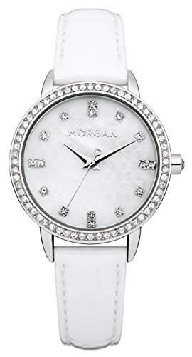 Morgan Damen-Armbanduhr Analog Quarz Weiss M1222W