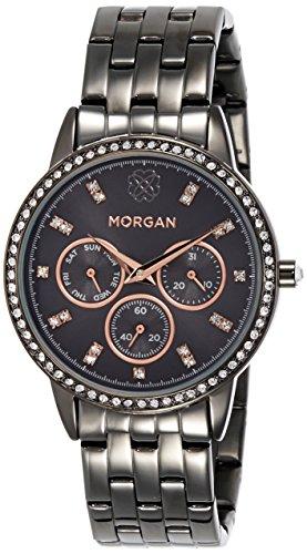 Damen Morgan Armbanduhr m1218brgm schwarz Armband und Zifferblatt