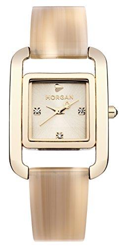Morgan Damen Armbanduhr Analog Quarz Beige M1215CGM