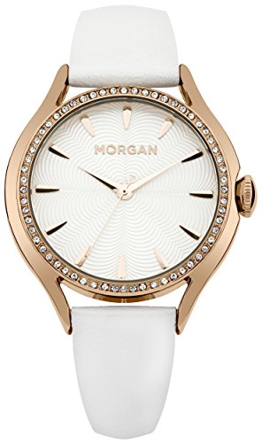 Morgan Damen Armbanduhr Analog Quarz Leder M1235WRG