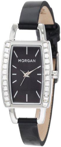Morgan Damen M1097B Klassisch Kristallisiert Gehaeuse Silber Ton Uhr