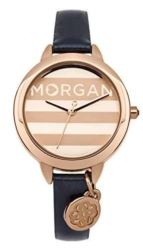 Morgan m1237urg 045J699 Analog gold Armband Leder Blau