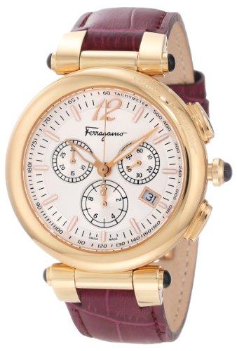 Salvatore Ferragamo Damen Armbanduhr 41mm Armband Kalbsleder Rosa Schweizer Quarz F77LCQ5091 SB42