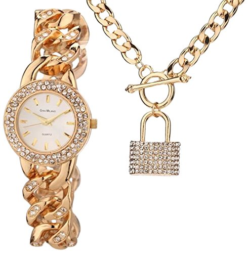 Gino Milano Damen Armbanduhr Analog Quarz Gold MWF14 044A