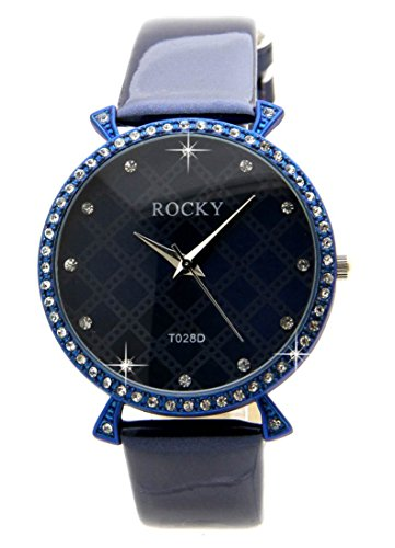 65 Diamanten CZ Leder blau Rocky 192