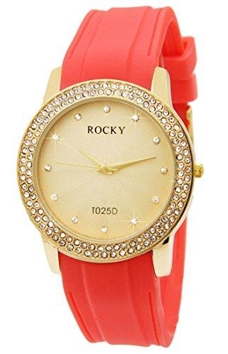 Silikon rosa Koralle Rocky 120 Diamanten CZ 638