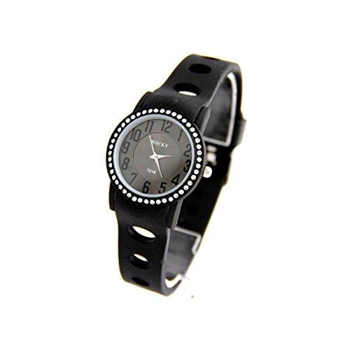 Damen Armbanduhr Silikon schwarz Rocky Preis unten 1118