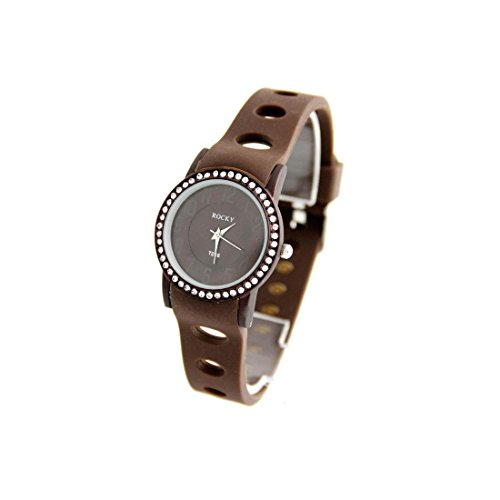 Zeigt Damen Armband Silikon Schokolade Rocky 1006