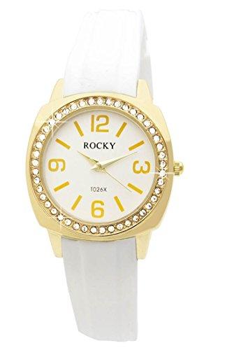 Zeigt Damen mit Silikon Weiss Rocky 48 Diamanten CZ 1768