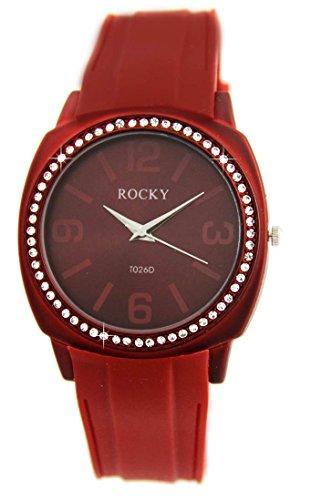Zeigt Damen Silikon in Rot Rocky 64 Diamanten CZ 1428