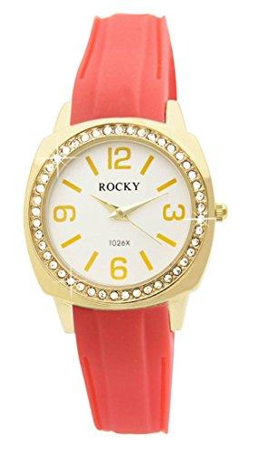 Zeigt Frau und Silikon Rosa Koralle Rocky 48 Diamanten CZ 1635