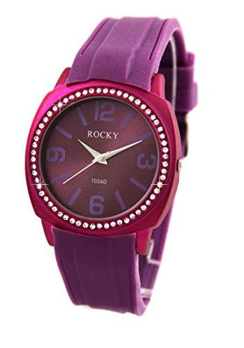 Zeigt Damen mit Silikon Violett Rocky 64 Diamanten CZ 1634