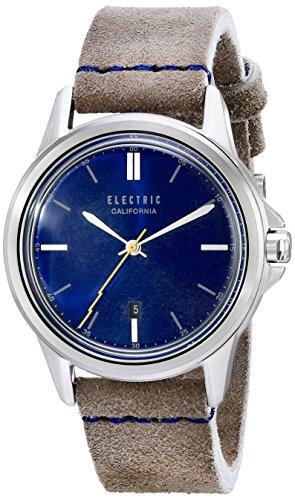 Electric Carroway Leather Watch Blue Grey