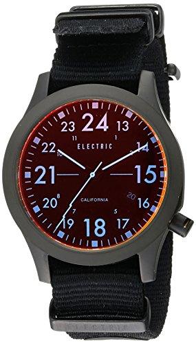 Zeigt Electric Orange NATO Armband Schwarz FW01
