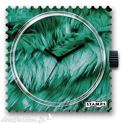 Uhr Zifferblatt - Green Cat - STAMPS Uhren 1511053