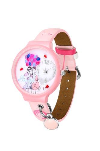 ELLE girl Damen Armbanduhr Analog plastik rosa GW40067S02X