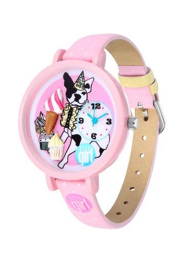 ELLE girl Damen Armbanduhr Analog Plastik Rosa GW40069S01X