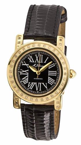 M Johansson Damen Quarz Armband Uhr Lederarmband S2245LbG