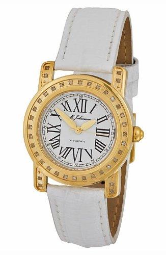M Johansson Damen Quarz Armband Uhr Lederarmband S2245LwG
