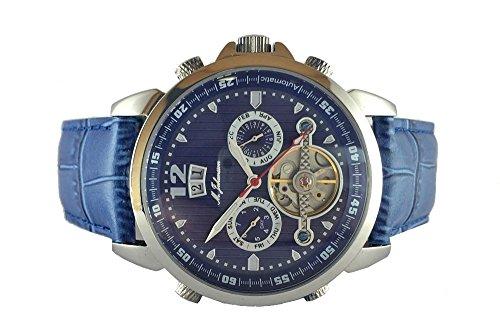 M Johansson Herren Automatik Armband Uhr LunusLSBL
