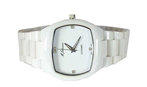 M Johansson Herren Keramik Quarz Armband Uhr ArnaW