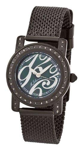 M Johansson Schwarze Damen Quarz Armband Uhr EmiliaBBB