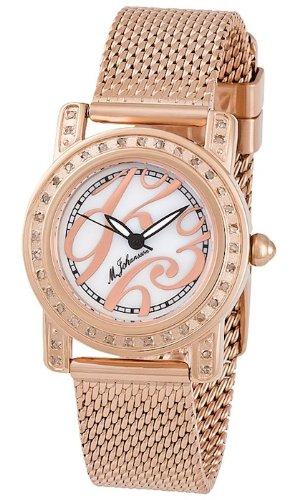 M Johansson Rose Vergoldet Damen Quarz Armband Uhr EmiliaRgRgW