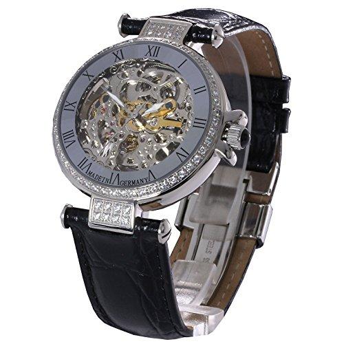 Damen Automatikuhr Damenarmbanduhr Damenuhr L G Atlantis mit sichtbarem Uhrwerk