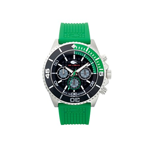 No Limits Armbanduhr Unisex Watch NLT65002 VERT black Green 1001