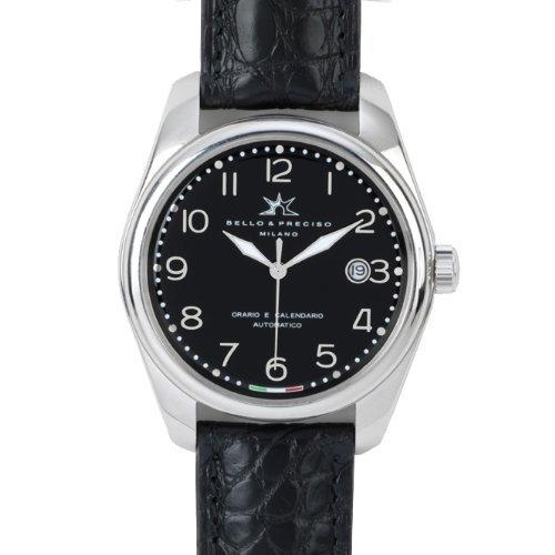 Bello Preciso italienische Armbanduhr Modell 39 Nero