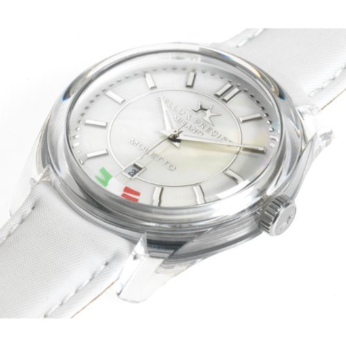 Bello Preciso italienische Armbanduhr Modell Muletto Bianco