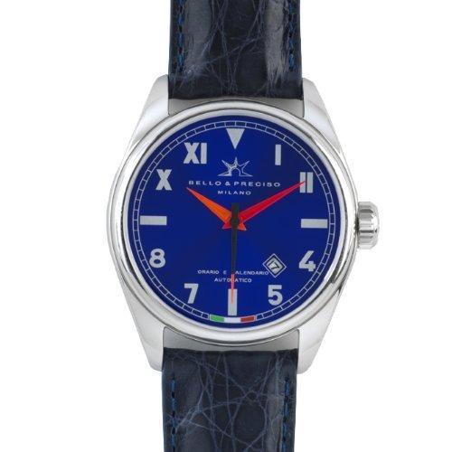 Bello Preciso italienische Herren Armbanduhr Modell 43 Cobalto