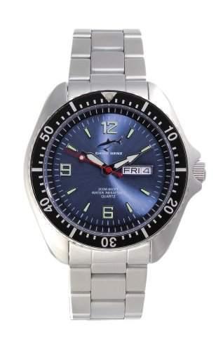 Chris Benz One Man 200m Blue - Black MB Armbanduhr fuer Ihn Taucheruhr