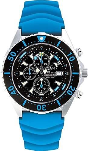 Chris Benz Uhr Taucheruhr Depthmeter Chronograph CB-C300-B-KBG