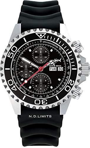 Chris Benz Deep 500m Chronograph CB-500A-C1-KB Herren Automatikchronograph Taucheruhr
