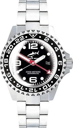 Chris Benz Deep 2000m Automatic GMT Super Bubble CB-2000A-D3-MB Herren Automatikuhr Taucheruhr