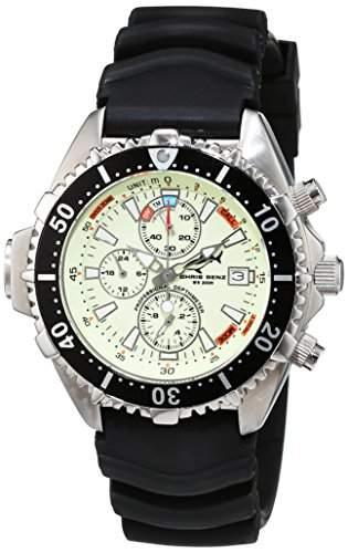 Chris Benz Unisex-Armbanduhr Chronograph Kautschuk CB-C-NEON-KB