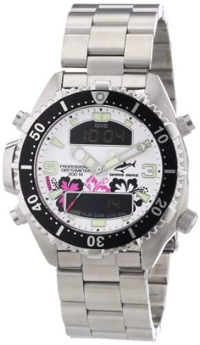 Chris Benz Unisex-Armbanduhr Analog - Digital Quarz Edelstahl CB-D-ALOHA-MB