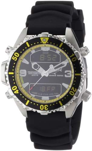 Chris Benz Unisex-Armbanduhr Digital Kautschuk CB-D-BLACKYELLOW-KB