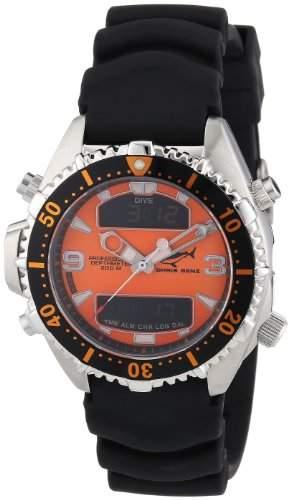 Chris Benz Unisex-Armbanduhr Digital Kautschuk CB-D-ORANGE-KB