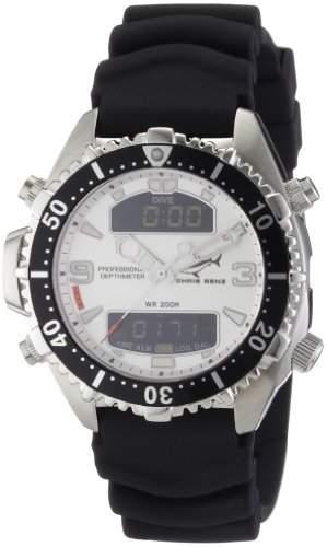Chris Benz Unisex-Armbanduhr Digital Kautschuk CB-D-SILVER-KB