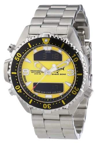 Chris Benz Unisex-Armbanduhr Digital Edelstahl CB-D-YELLOW-MB
