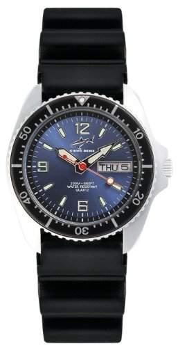 Chris Benz Unisex-Armbanduhr Analog Kautschuk CBMBKBSW