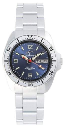 Chris Benz Unisex-Armbanduhr Analog Edelstahl CBMBMBSI