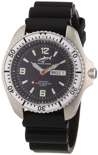 Chris Benz Herren-Armbanduhr XL Analog Kautschuk CBOSKBSI