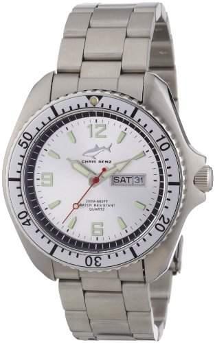 Chris Benz Herren-Armbanduhr XL Analog Edelstahl CBOSIMBSI
